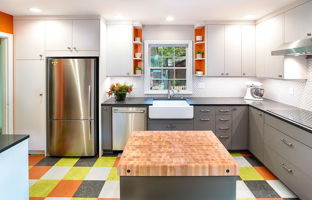 Award Winning Colorful Kitchen C R Remodeling