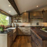 Black walnut kitchen island