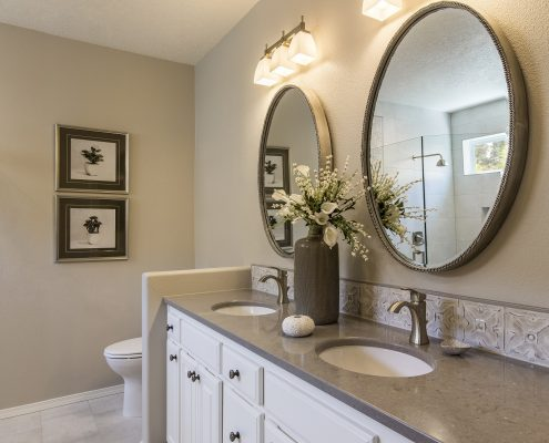 Accessibility and functionality in bathroom remodel