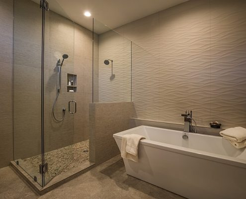 Soaking tub and walk in shower